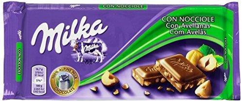 Milka Haselnuesse, Tafelschokolade, 5er Pack (5 x 100 g)