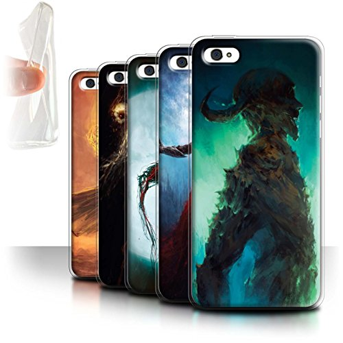Offiziell Chris Cold Hülle / Gel TPU Case für Apple iPhone 5C / Kriegsheld/Warlock Muster / Dämonisches Tier Kollektion Pack 6pcs