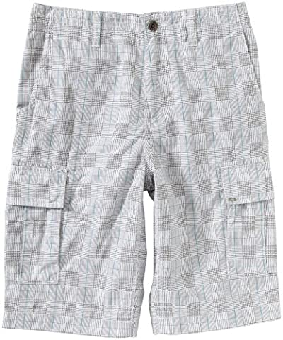 Vans TERRAIN CARGO SHORTS Children's Shorts White Plaid Size:16
