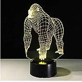 Best Asientos gorila bebé - Gorila 3D Led Lámpara 7 Color Led Lámparas Review