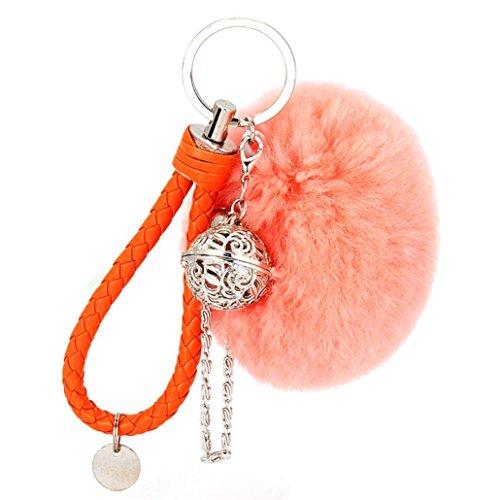 Ularma Elegant Plüsch Ball Schlüsselanhänger Weich Keychain Handtaschenanhänger Dekor - Orangen Dekor