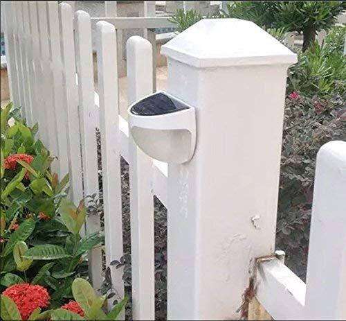 Garden Mile 4er Packung NEU Tiffany Stil schwarz und weiß modern orientalischer Stil solar betrieben LED Außen Montiert Wand Lichter Modern Garten Beleuchtung für Walkways, Zäune oder Schuppen -