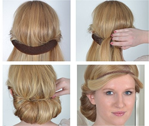 Solida Haarband Pretty-Roll, Lederband, Braun, 2er Pack (2 x 1 Stück)