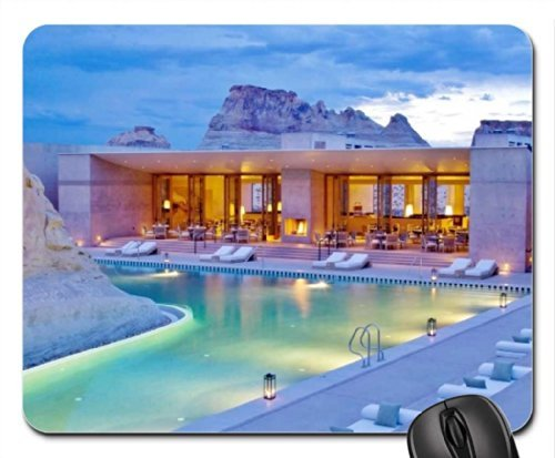 Romantic Swimming Pool Design at Amangiri Resort and Spa in Utah Mouse Pad, Mousepad (Modern Mouse Pad) - Pool Spa Design