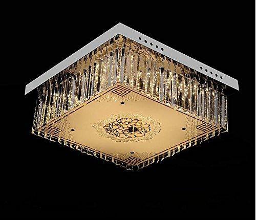 FengChandelier-Plafonnier en cristal de luxe salon de mode restaurant une source lumineuse, carré, lumière neutre