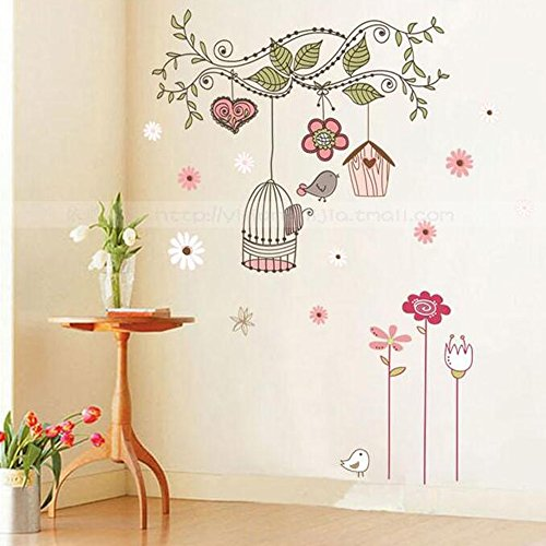 Winhappyhome Happy Birds Removable Wall Art Sticker