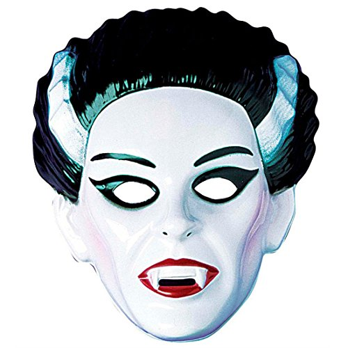 NET TOYS Lady Vampir Maske Dracula Halloweenmaske Hartplastik Vampirin Horrormaske Vamp Gruselmaske Gräfin Faschingsmaske Halloween Kostüm Zubehör (Vamp Halloween Lady)