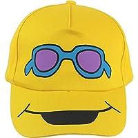 Boy's Funky Character Smiley Face Summer Sun Baseball Cap (Cool Dude)