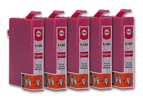 5 Cartuchos de tinta compatible con Epson T1303 (Magenta)