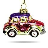SIKORA BS405 Glas Figur Christbaumschmuck Weihnachtsbaum Anhänger VW KÄFER BUNT 5cm
