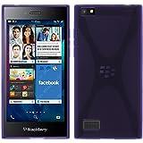 PhoneNatic Case für BlackBerry Leap Hülle Silikon lila, X-Style + 2 Schutzfolien