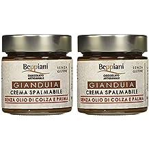 Crema Spalmabile alla Gianduia - Set 2 Barattoli da 250 gr, SENZA GLUTINE. Beppiani – Cioccolato Artigianale