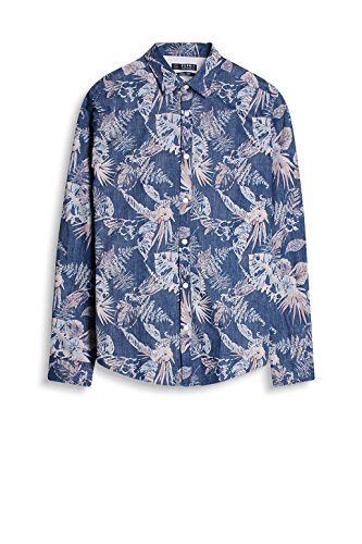 ESPRIT, Camicia Uomo Blu (Grey Blue)