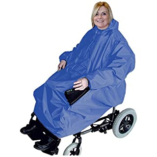 Kozee Komforts Waterproof Cover for Use with Electric Wheelchair with Sleeves and Access Panel for The Controls - Grey