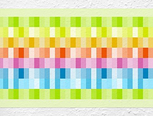 I-love-Wandtattoo b-10150 Bordüre 'Sommerliche Farbvielfalt' Wohnraum Küche Kinderzimmer Deko Wanddeko Wandsticker Wandaufkleber Wandtattoo