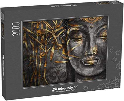 Puzzle 2000 Teile Bodhisattva Buddha - Digitale Kunstcollage kombiniert mit Aquarell - Klassische Puzzle, 1000 / 200 / 2000 Teile, edle Motiv-Schachtel, Fotopuzzle-Kollektion 'Buddhismus'