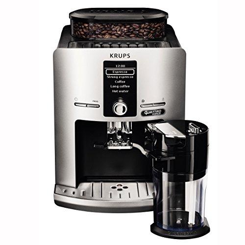 Krups Latt'Espress Quattro Force EA82FE Kaffeevollautomat (1450 Watt, 1,7 Liter, One-Touch Funktion, Milchbehälter, 15 bar) silber - 3