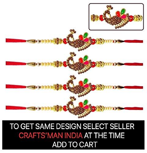 4 Pc Set of Beautiful Peacock Rakhi thread string for brother and bhabhi on  Indian Rakhi rakshabandhan  Rakhi bracelet rakhi art, Crafts & Sewing