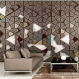 Amazhen Custom Wallpaper 3D solide Polygonal Mosaik Fliese modernen Fernseher Hintergrund behang Tapete,500cmx280cm