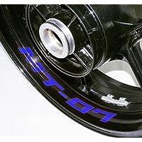 EUFBA Yamaha MT07 Motorradfelge Aufkleber Aufkleber Streifen Refletive Blue