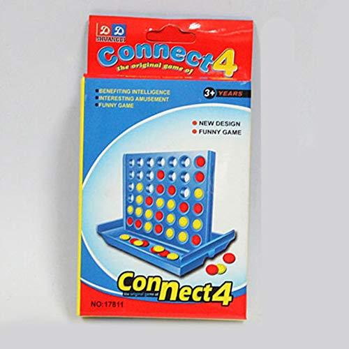 onale Vier-Spiel-Schach-Früherziehung Eltern-Kind-Interaktion 1 Satz Connect 4 in Einem Line Board Classic Game - Multi-Color ()