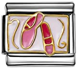 Stylysh Charms Ballet Pointe ballerina scarpe smalto italiano 9 mm Link MD041