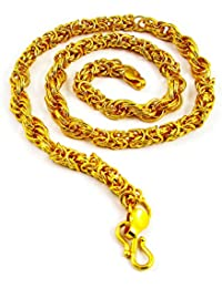 Factorywala Gold Plated Rhodium Coated Unisex Neck Chain, Jewelry For Men & Women