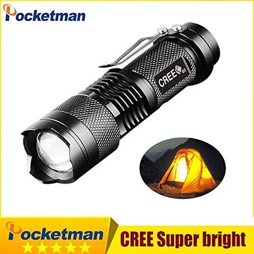 Mini Lanterna 2000LM LED puissante lampe de poche Linterna Potente Gladiator CREE Q5Lampe de poche 3modes Zoomable lampe torche Penlight 94+ 1