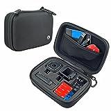 CamKix Kamera und Zubehörtasche für GoPro HERO5 / HERO4 Session Kameras - ideal für die Reise oder Aufbewahrung- Komplettschutz - Perfekte Passform - Inklusive Karabiner und Mikrofaser Reinigungstuch (Schwarz, Kleine - HERO4 Session)