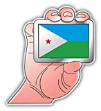 Djibouti World Flag Hand Art Decor Vinyl Sticker Pegatina 10 x 12 cm