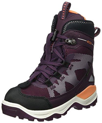Ecco Mädchen Snow Mountain Stiefel, Violett (Black/Mauve-Beetroot/Mauve), 28 EU