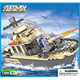 Webby Army Warship Building Blocks Toys Destroyer (Multi-Color, 231 Pieces)