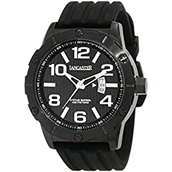 Lancaster Men's Watch with Silicone Band and Date 10 ATM OLA0479NR