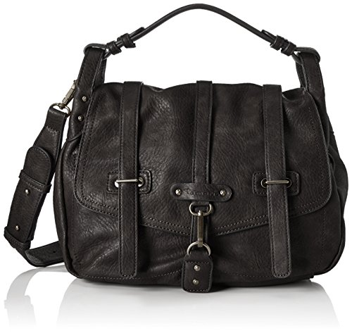 Tamaris Damen Bernadette Satchel Bag Tornistertasche, ((black), 12x26x26 cm (Bag City Hardware)