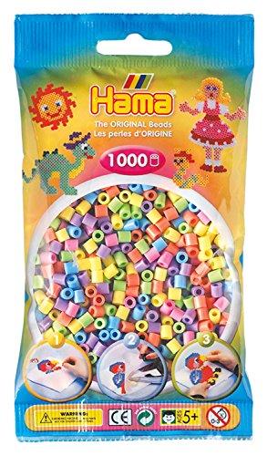Hama 207-50 - Perlen, 1000 Stück, pastell gemischt