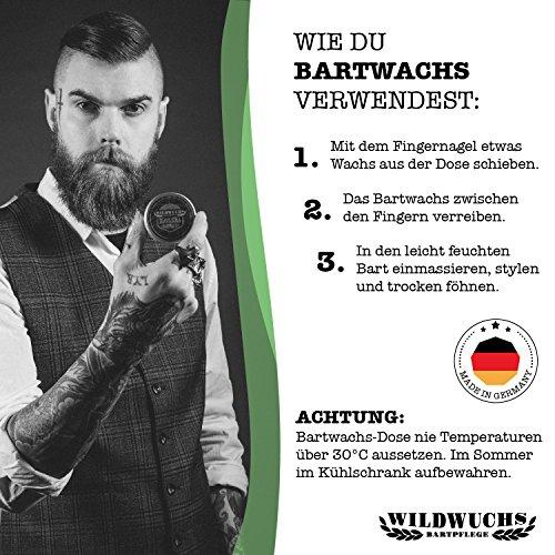 Wildwuchs Bartpflege - Bartwachs HAVANNA - Moustache Wax Abbildung 2