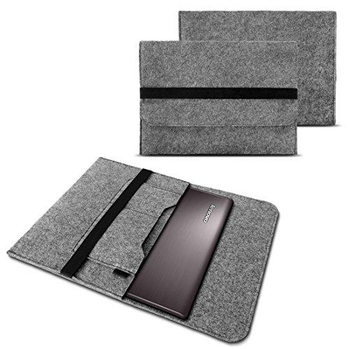 NAUC Notebook Tasche Hülle für Lenovo Yoga 900/900 S/910/510/520/710/720/730 13,3-14 Zoll Filz Sleeve Schutzhülle aus Filz mit Innentaschen, Farben:Hell Grau