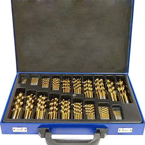 UISEBRT 170-tlg Metallbohrer Set 1-10mm DIN338 HSS Cobalt Holzbohrer Satz Spiralbohrer Bohrersets für alle handelsüblichen Bohrmaschinen (170-tlg)