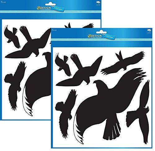 Avery Zweckform 4485 Warnvögel, Vögel schwarz (Folie), 6 Aufkleber (2)