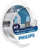 Philips 12258WHVSM WhiteVision Bombilla para Faros Delanteros con Efecto Xenon H1, 2 Unidades
