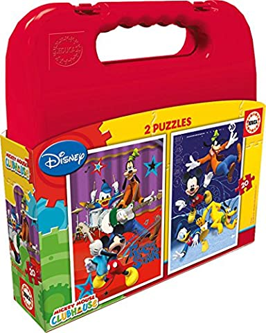 Educa - 16510 - Koffer Puzzle - Mickey Mouse Clubhouse