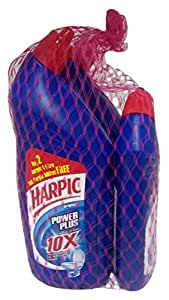 Harpic Toilet Cleaner - Power Plus (Original), 2x1L + 500ml Pack