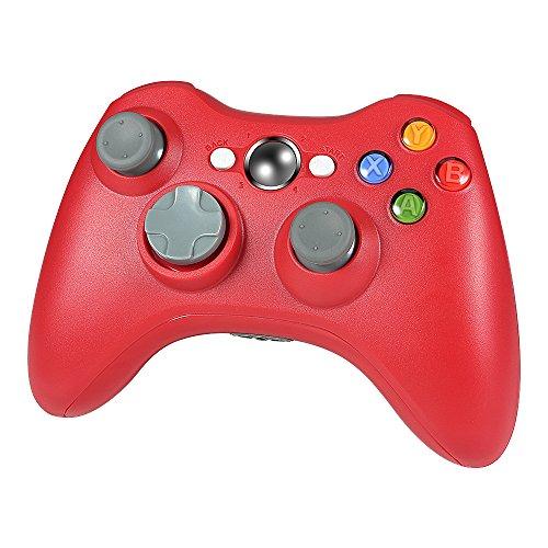 Wetoph Kabellos Controller für Xbox 360, GD01 PC Gamepad Joysticks Controller Integrierte Dual Vibration rot