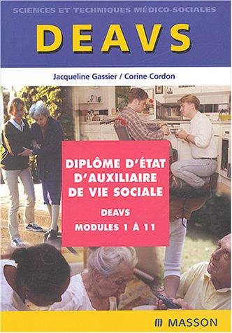 Diplôme d'Etat d'auxiliaire de vie sociale : Modules 1 à 11