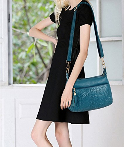 LAIDAYE Sommermode Frau Schulter Diagonal Handtasche Blue