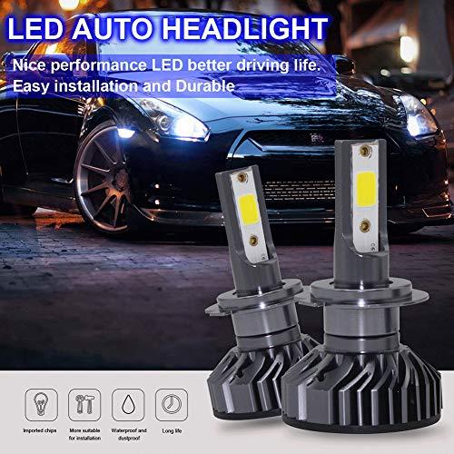elegantstunning 2PCS/Set H76K EV8120W 8000LM 6500K lampadine LED Faro abbagliante
