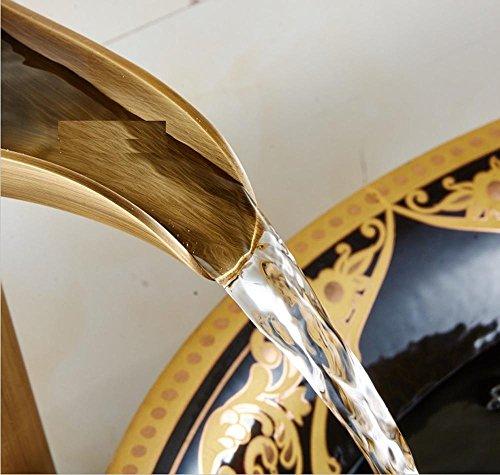 WYMBS Accessori per mobili creativo decorazione bagno Miscelatore per lavabo rubinetto piombo rame antico vetro piatti caldi e freddi