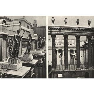 BANK OF ENGLAND. Columns figures Bullion Yard, Sir John Soane's contribution - 1926 - old antique vintage print - art picture prints of London