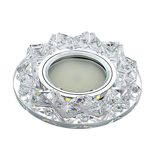Yool 3W Kristall LED Deckenleuchte, Einbau Hallway Lampe Zubehör, Foyer Fixture,White,A (Fixture Glühlampen-einbauleuchten)
