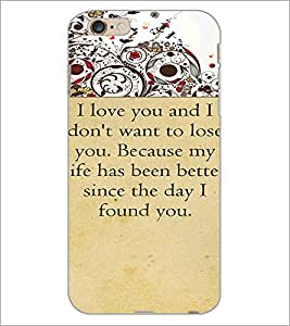 PrintDhaba Quote D-4714 Back Case Cover for APPLE IPHONE 6 PLUS (Multi-Coloured)